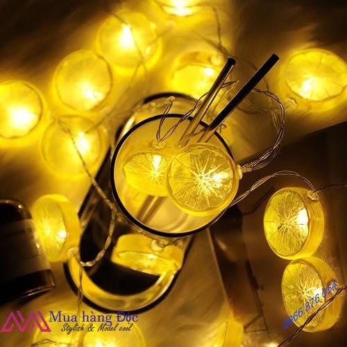 LED 20 lát chanh 2019 dây đèn led trang trí màu vàng chanh