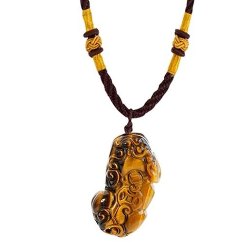 GemBank Mặt Dây Chuyền Tỳ Hưu Opal Tự Nhiên tặng kèm dây đeo 45cm