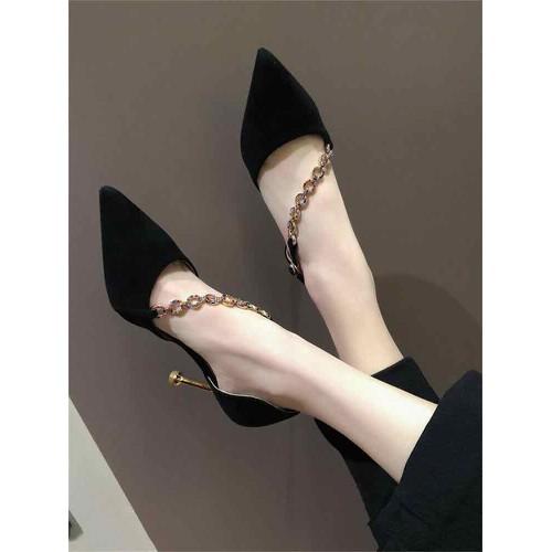Giày cao gót mũi nhọn dây chéo - 7343515 , 17131644 , 15_17131644 , 340000 , Giay-cao-got-mui-nhon-day-cheo-15_17131644 , sendo.vn , Giày cao gót mũi nhọn dây chéo