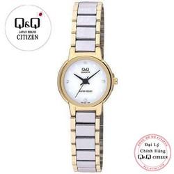 Đồng hồ nữ Q&Q Citizen Q211-401Y dây sắt thương hiệu Nhật Bản