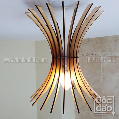 Đèn gỗ thả trần trang trí mẫu D360-TT37