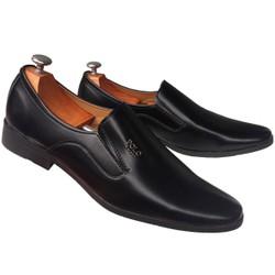 Giày tây nam kiểu trơn đen mới ra giá rẻ