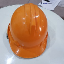 Giảm giá nón công nhân bảo bình màu cam-Hình thật