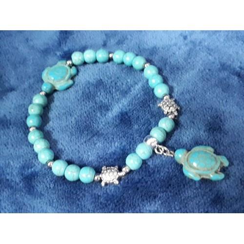 vòng tay chuỗi hạt đá turquoise ngọc lam điêu khắc rùa xanh - 4814700 , 17150520 , 15_17150520 , 210000 , vong-tay-chuoi-hat-da-turquoise-ngoc-lam-dieu-khac-rua-xanh-15_17150520 , sendo.vn , vòng tay chuỗi hạt đá turquoise ngọc lam điêu khắc rùa xanh
