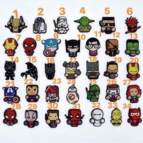 Sticker Jibbitz gắn dép hình siêu anh hùng Avengers - 4809767 , 17131423 , 15_17131423 , 10000 , Sticker-Jibbitz-gan-dep-hinh-sieu-anh-hung-Avengers-15_17131423 , sendo.vn , Sticker Jibbitz gắn dép hình siêu anh hùng Avengers