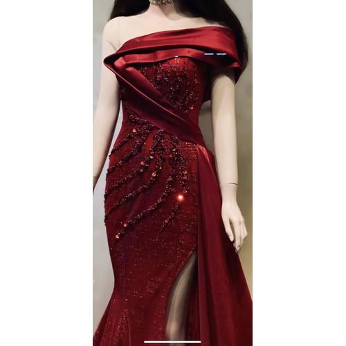áo cưới đuôi cá đỏ đô lệch vai tay con - 7389958 , 17152836 , 15_17152836 , 4200000 , ao-cuoi-duoi-ca-do-do-lech-vai-tay-con-15_17152836 , sendo.vn , áo cưới đuôi cá đỏ đô lệch vai tay con