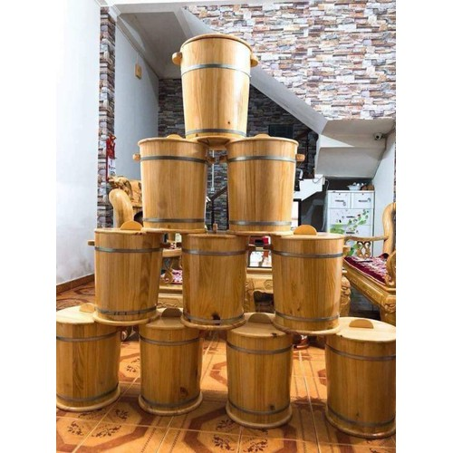thùng gỗ đựng gạo 10kg