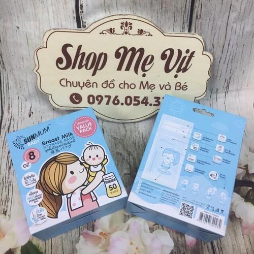 Hộp 50 túi trữ sữa Sunmum 250ml Thái Lan