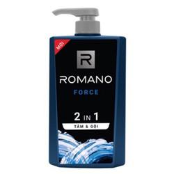 Dầu tắm gội 2 trong 1 dành cho nam Romano Force 650g
