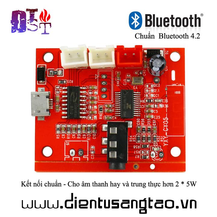Mạch khuếch đại âm thanh  2x5W Bluetooth 4.2 micro USB 5V