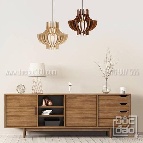 Đèn gỗ thả trần mẫu D360-TT27