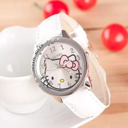 Đồng hồ đeo tay cho bé gái hình Kitty dây da xinh xắn BBShine - DH004