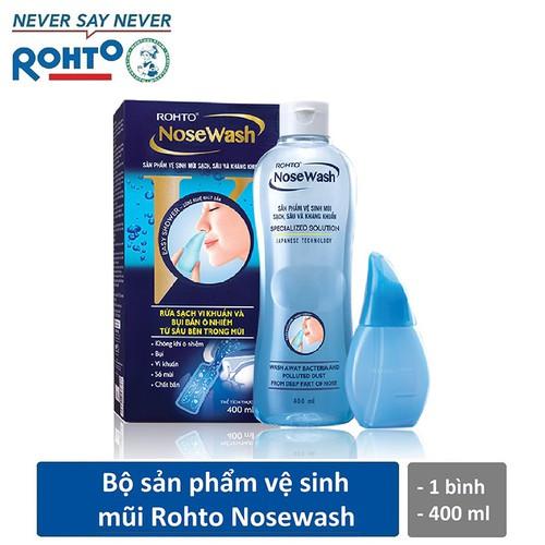 Bộ sản phẩm vệ sinh mũi Rohto NoseWash - 1 bình vệ sinh mũi Easy Shower và 1 bình dung dịch 400 ml - 7364280 , 17141164 , 15_17141164 , 95000 , Bo-san-pham-ve-sinh-mui-Rohto-NoseWash-1-binh-ve-sinh-mui-Easy-Shower-va-1-binh-dung-dich-400-ml-15_17141164 , sendo.vn , Bộ sản phẩm vệ sinh mũi Rohto NoseWash - 1 bình vệ sinh mũi Easy Shower và 1 bình dun