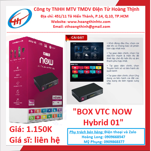đầu thu |ĐẦU THU VTC NOW Hybrid 01 CHÍNH HÃNG - ANDROID BOX VTC Now TÍCH HỢP DVB-T2 MỚI NHẤT 2019