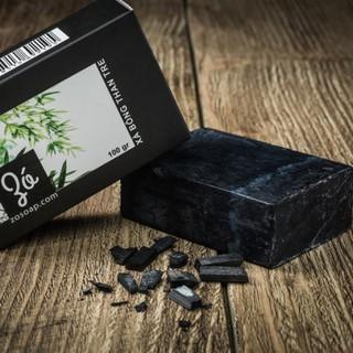 Xà bông Gió xà bông thảo dược Than Tre từ nguyên liệu tự nhiên- Vườn Đặc Sản - VDS-xbtdtt100gx01 thumbnail