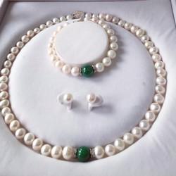 Bộ nữ trang ngọc trai đá cẩm thạch Vaadoo diện Tết sang trọng giá ưu đãi Tặng ngay 1 bộ dây chuyền bạc