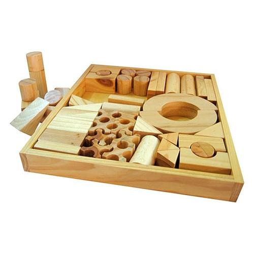 Đồ chơi gỗ Bộ xếp hình XD 51 chi tiết mộc