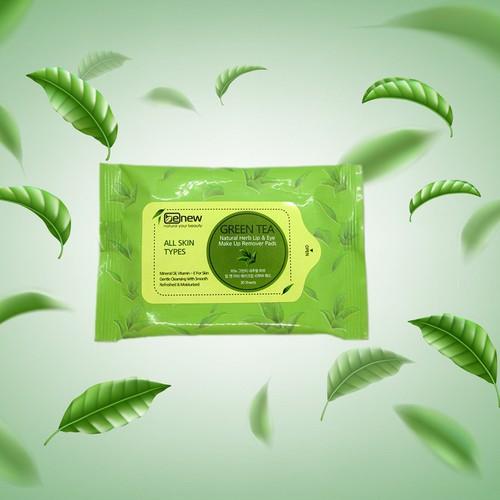 Gói 30 miếng bông tẩy trang cao cấp BENEW tinh chất trà xanh