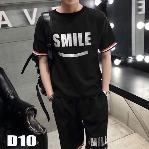 [Siêu sale] free ship]  bộ đồ thể thao phù hợp cả nam và nữ in logo smile