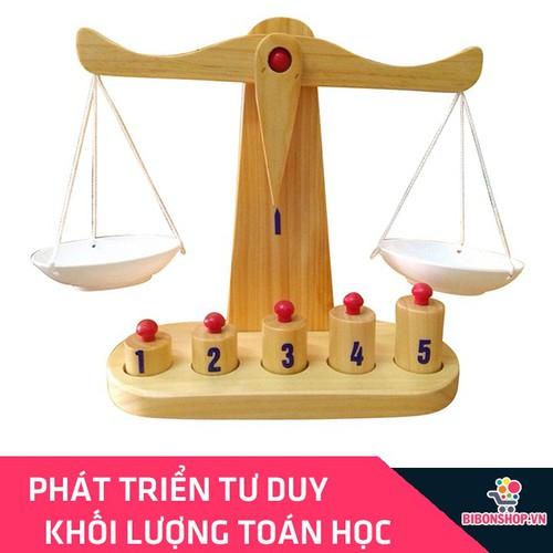 Đồ Chơi Gỗ Cân Toán Học Cho Bé Học Về Khối Lượng - Hàng Việt Nam