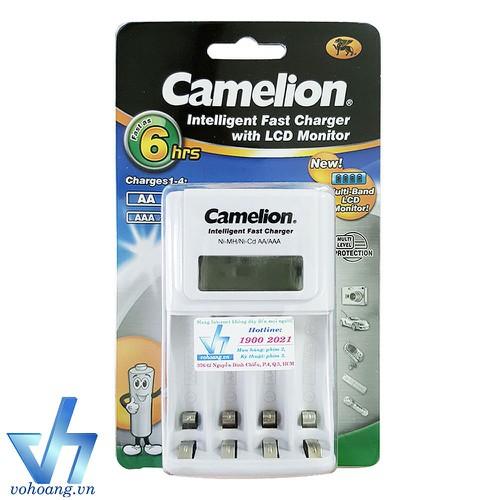 Bộ sạc pin Camelion 1012 có màn hình, tự ngắt sạc, dòng cao