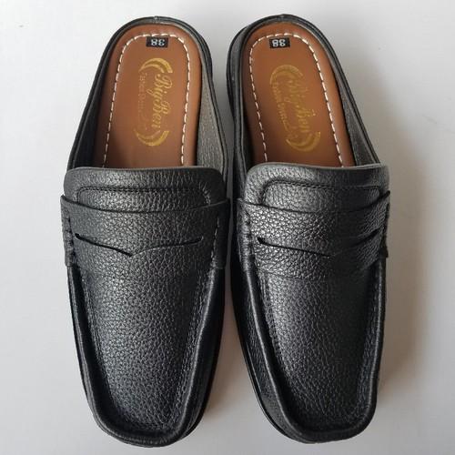 Giày Sabo Nam Da Bò Thời Trang Màu Đen - JZ1319