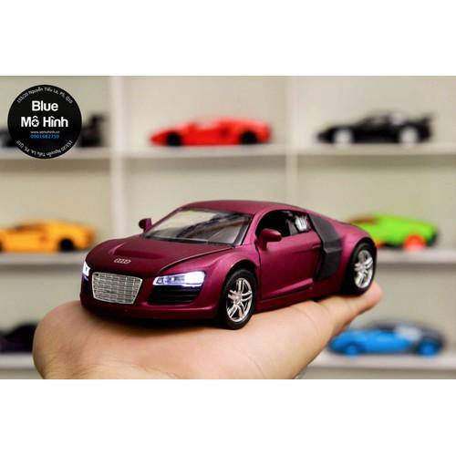 Xe mô hình Audi R8 tỷ lệ 1:32 - Tím