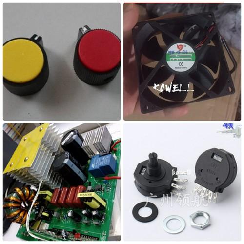 Bộ Bo mạch máy hàn que loại 1 bo loại 200 - 2 IGBT thêm quạt + chiết áp + núm vặn