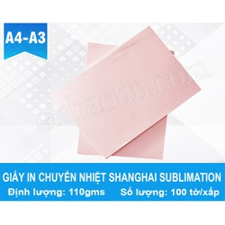Combo 10 Xấp- Giấy in Chuyển Nhiệt Shanghal Sublimation Paper- A4