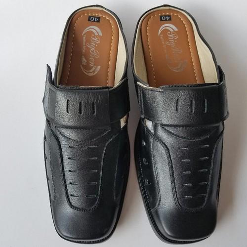 Giày Sabo Nam Da Bò Thời Trang Màu Đen - JZ1320
