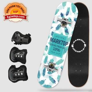 Ván trượt chuyên nghiệp cho thanh thiếu niên - Skateboard Marktop + Bộ bảo vệ chân tay - Hàng xịn xuất Châu Âu (Bản UK) - Marktop1 thumbnail