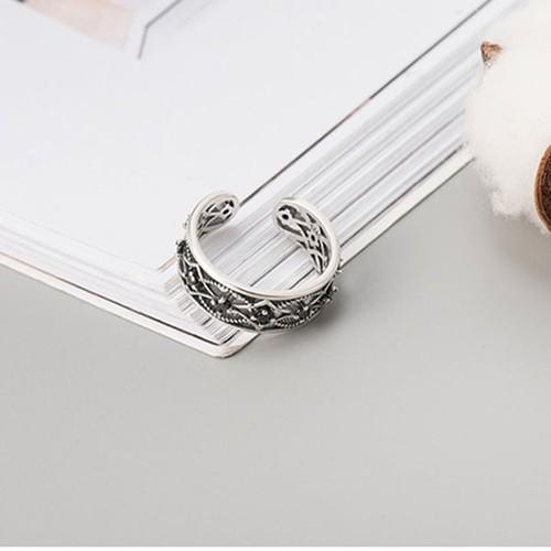 Nhẫn Bạc Thái S925 Bảo Ngọc Jewelry Cho Nữ Cá Tính N-1711