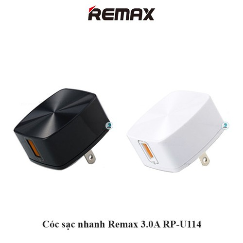 Cóc Sạc Nhanh Remax 3.0A RP-U114 hai màu