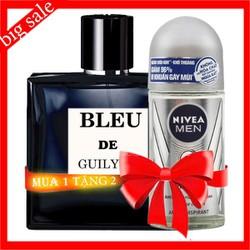 Lăn xịt khử mùi cho nam mùi nước hoa Bleu nam thơm lâu giá rẻ