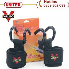Băng cuốn cổ tay hỗ trợ tập thể hình - Hỗ trợ nâng tạ có móc kéo tạ kéo xà Valeo - Cuốn cổ tay có móc