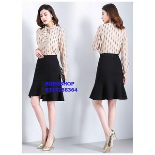Chân váy công sở tà xéo - KH10 thumbnail