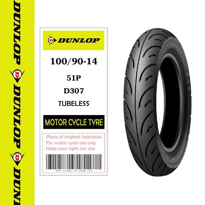 Lốp Dunlop 100.90-14 D307 TL 51P  Vỏ xe máy Dunlop size  100.90-14 D307 TL 51P _ Dunlop Việt Nam, giá rẻ, uy tín 1