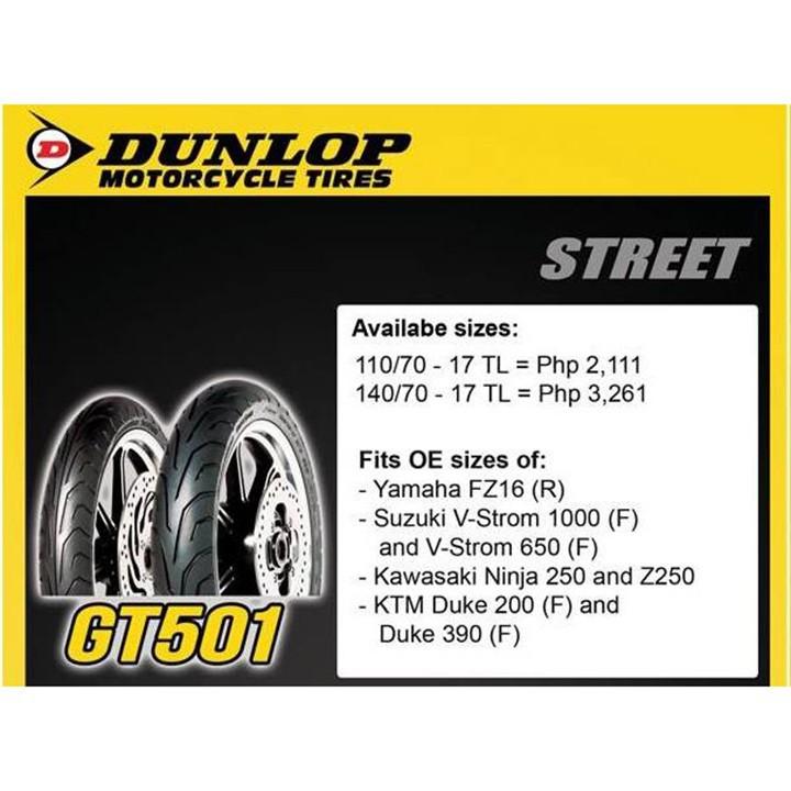 Lốp Dunlop 110.70-17 GT501 TL 54H  Vỏ xe máy Dunlop size 110.70-17 GT501 TL 54H _ Dunlop Việt Nam, giá rẻ, uy tín 2