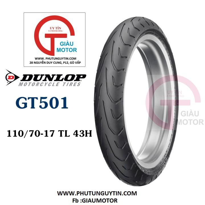 Lốp Dunlop 110.70-17 GT501 TL 54H  Vỏ xe máy Dunlop size 110.70-17 GT501 TL 54H _ Dunlop Việt Nam, giá rẻ, uy tín 1