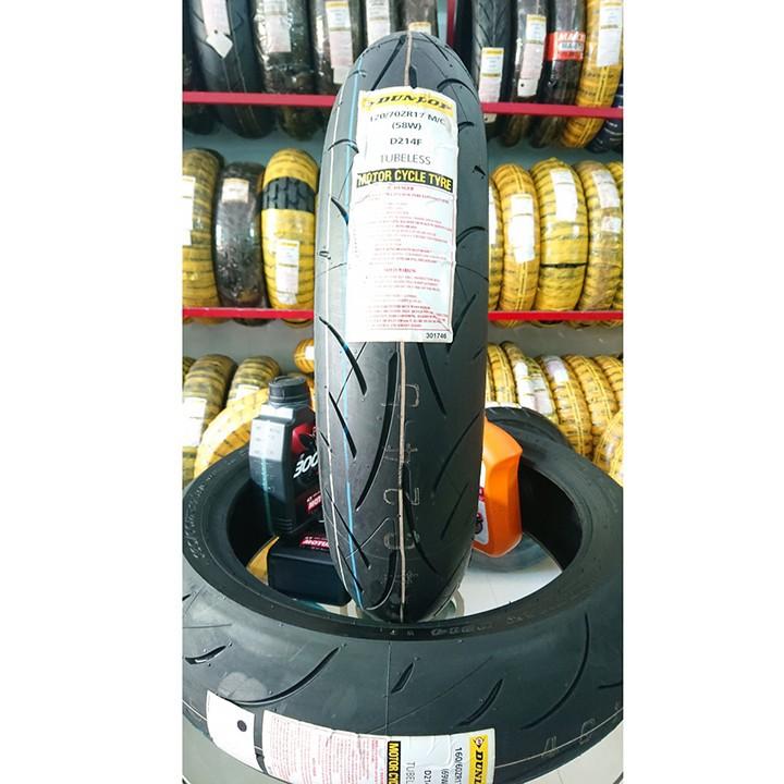 Lốp Dunlop 120.70-17 D214FW 58W Vỏ xe máy Dunlop size 120-70-17 D214FW 58W_ Dunlop Việt Nam, giá rẻ, uy tín 2