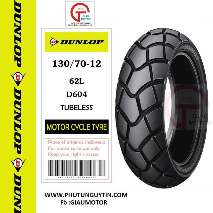 Lốp Dunlop 130.70-12 D604 TL 62L  Vỏ xe máy Dunlop size 130.70-12 D604 TL 62L _ Dunlop Việt Nam, giá rẻ, uy tín 1