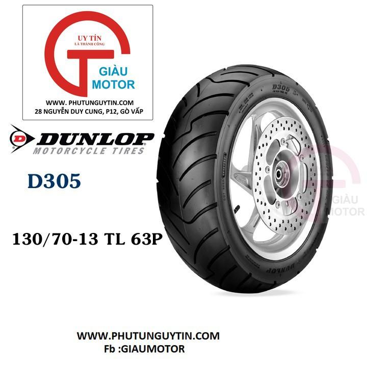 Lốp Dunlop 130.70-13 D305 TL 63P Vỏ xe máy Dunlop size Dunlop 130.70-13 D305 TL 63P_ Dunlop Việt Nam, giá rẻ, uy tín 1