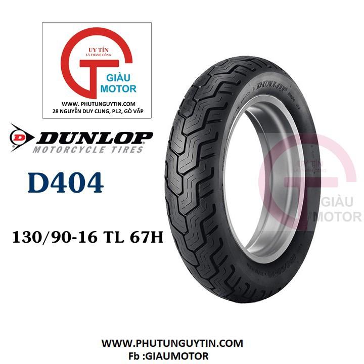 Lốp Dunlop 130.90-16 D404 TL 67H  Vỏ xe máy Dunlop size 130.90-16 D404 TL 67H  _ Dunlop Việt Nam, giá rẻ, uy tín 1