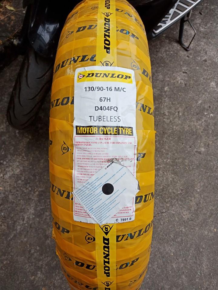 Lốp Dunlop 130.90-16 D404 TL 67H  Vỏ xe máy Dunlop size 130.90-16 D404 TL 67H  _ Dunlop Việt Nam, giá rẻ, uy tín 7