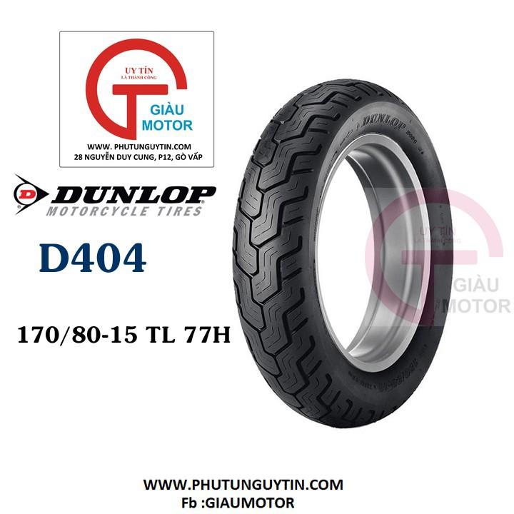 Lốp Dunlop 170.80-15 D404 TL 77H  Vỏ xe máy Dunlop size 170.80-15 D404 TL 77H  _ Dunlop Việt Nam, giá rẻ, uy tín 1