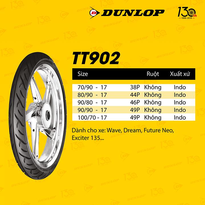 Lốp Dunlop 90.80-17 TT902 TL 46P  Vỏ xe máy Dunlop size 90.80-17 TT902 TL 46P _ Dunlop Việt Nam, giá rẻ, uy tín 1