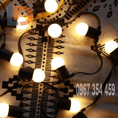 Dây đèn kín nước dài 5m 10 chuôi 27 có đầu nối