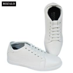 Giày sneaker nam tăng chiều cao 6cm Rozalo R2251-Màu Trắng