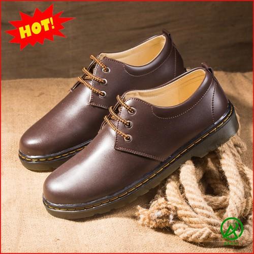 Giày Da Nam - Giày Boot Nam Cổ Ngắn Màu Nâu Da Trơn Cực Đẹp Và Phong Cách Để Khâu Chắc Chắn - M353-NAU