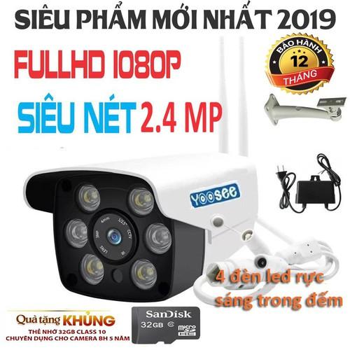 Camera Wifi ngoài trời Yoosee KB-S10B 2.4Mpx Full 1080 HD Tặng thẻ nhớ 32Gb